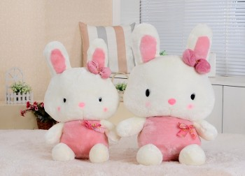 Super cute cute pink yellow candy Rouge plush rabbit toys