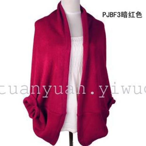 Jinyuan clothing factory direct new knit sleeve cardigan sweater cape cloak jacket