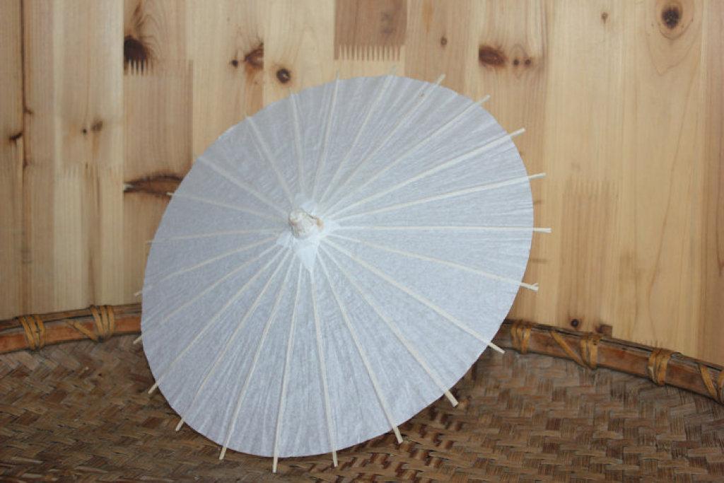 空白纸伞手工绘画伞白色美术手绘工艺伞