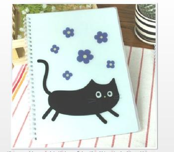 皮大螺旋本 可爱动物线圈笔记日记本 卡通硬抄