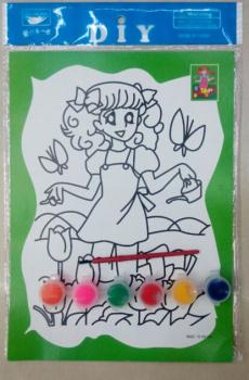 儿童手绘水彩涂鸦画多图套装 幼儿园DIY入门手工制作-水彩画 程冬英