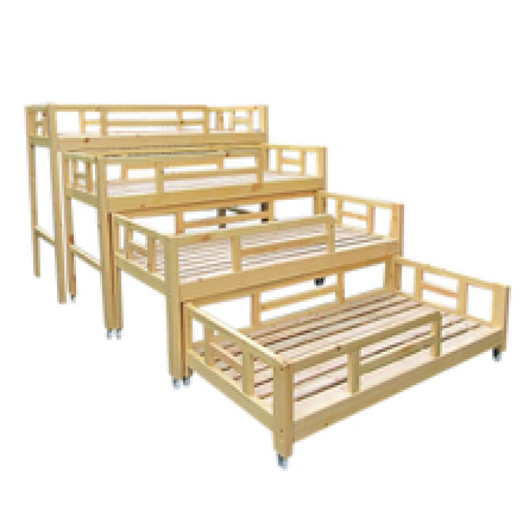 幼儿园四层推拉床樟子松推拉床儿童推拉床实木床
