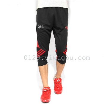 Summer sports and leisure pants, cycling shorts, cropped trousers for men and women training pants