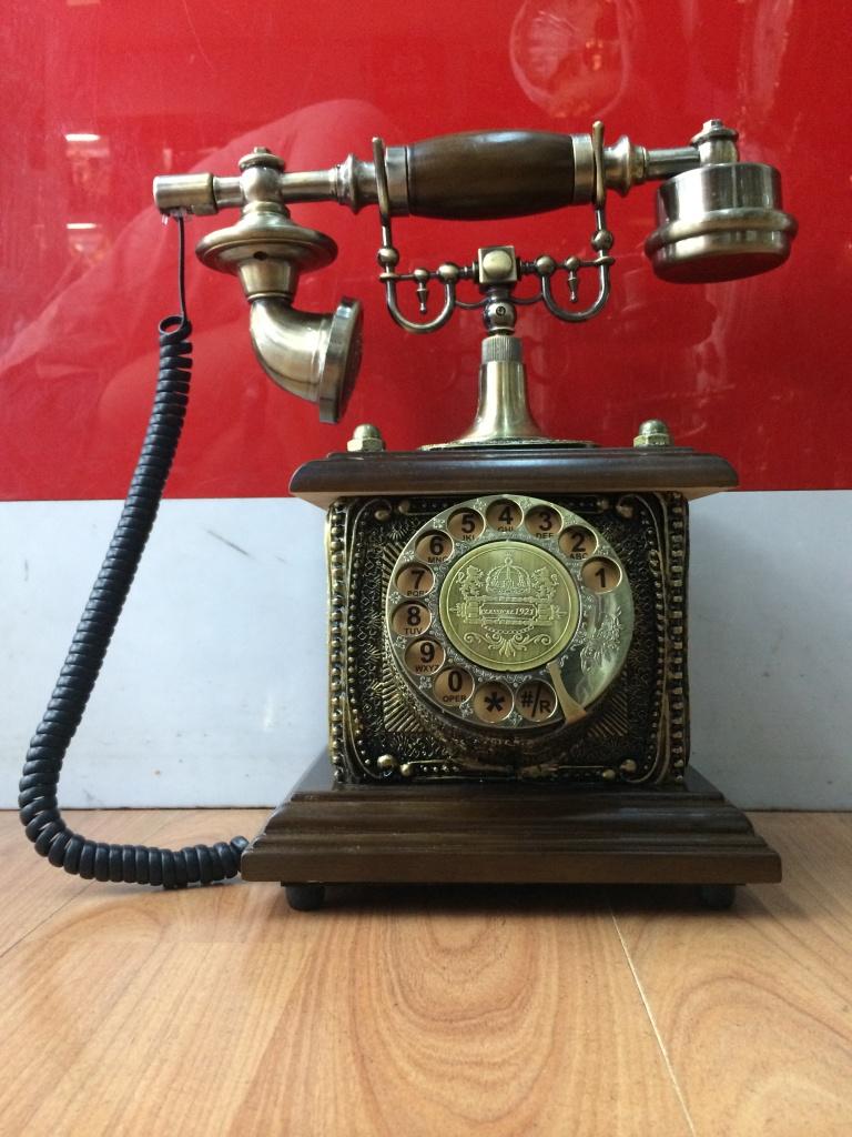 仿古旋转拨号转盘电话机
