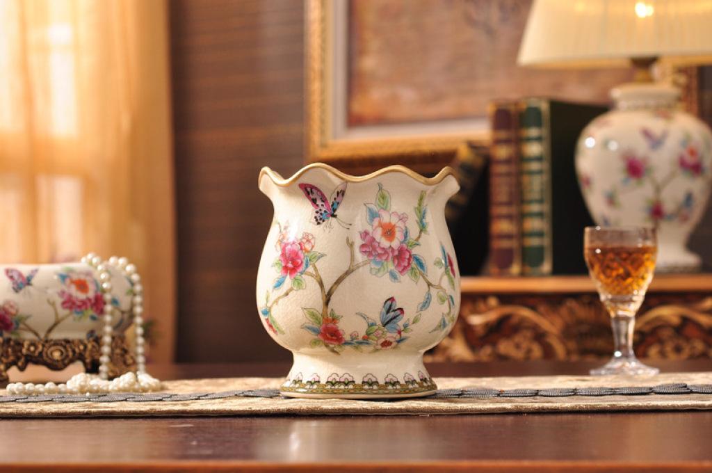 欧式奢华家居装饰品客厅摆件陶瓷花瓶xc278