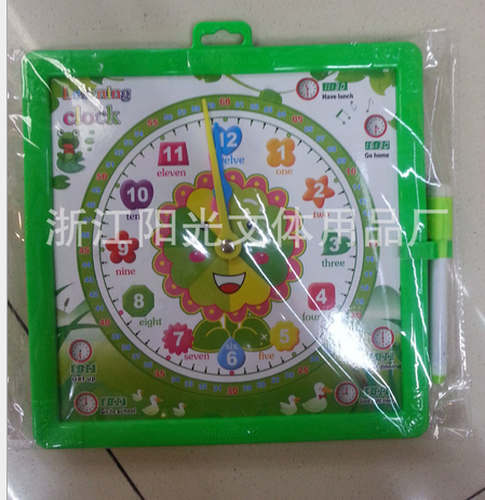 High quality children's painting Sketchpad graffiti board clock puzzle board