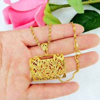 Euro fashion cut bag pendant luxury wild long gold color does not fade