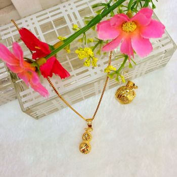 Euro accessories summer Korean clavicle simple popular chain gold plated jewelry peanut Apple