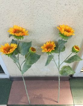 3 straight hair sunflower high-end simulation sun flower flower simulation artificial flowers wholesale