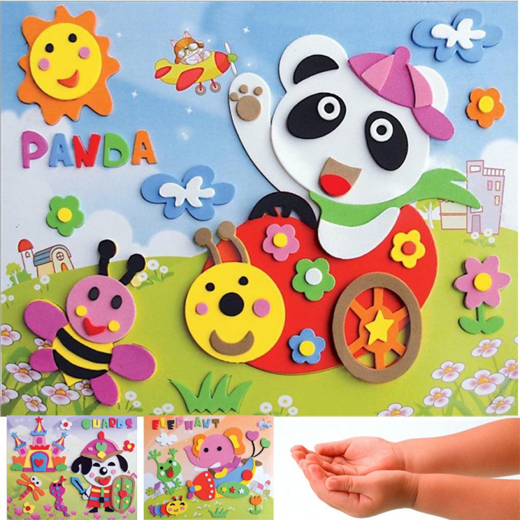 3d立体卡通贴画制作 环保儿童益智玩具