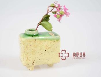 日本进口民芸花器纯手工制作陶瓷小花瓶 日式装饰花瓶迷你摆件