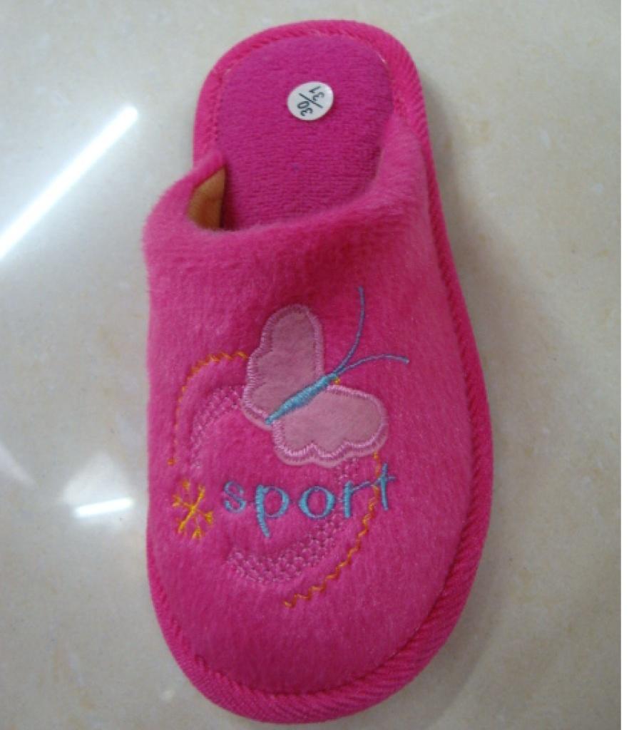 棉拖鞋 蝴蝶花纹 室内棉拖 保暖耐穿 质量好