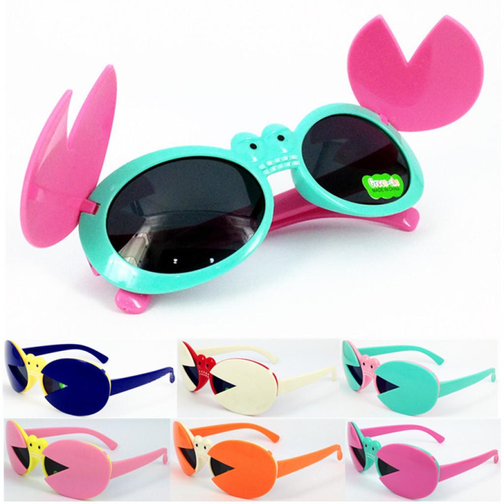 儿童螃蟹太阳眼镜 男女孩同款可爱眼镜