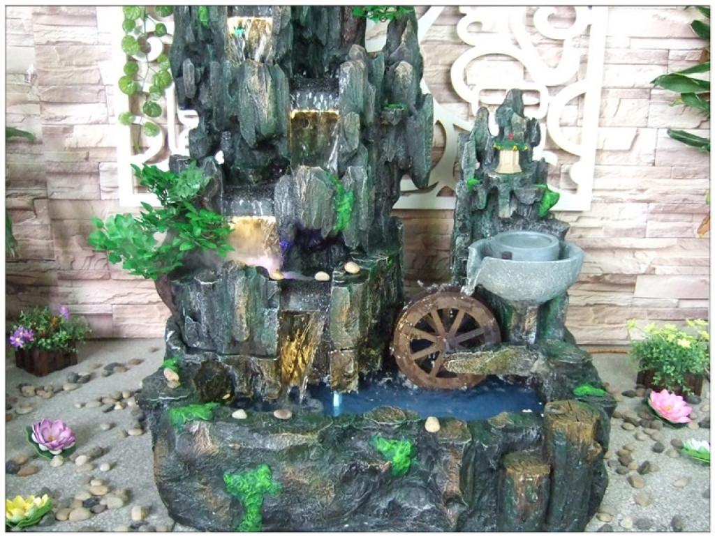 大型欧式假山流水喷泉风水轮摆件鱼池家居