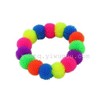 Bracelets Hair ball TPR TPR soft plush ball Flash Toy