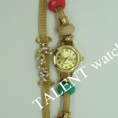 The new metal mesh chain bracelet fashion table flower Sequin Love Cross love drill drill 7 waterproof