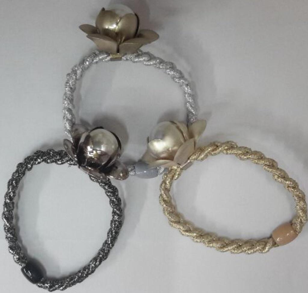 2015韩版最新款金丝编织珍珠花