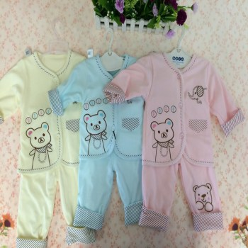 Cartoon Bear Baby Elephant autumn cotton coat two new clothes for 6 to 12 months