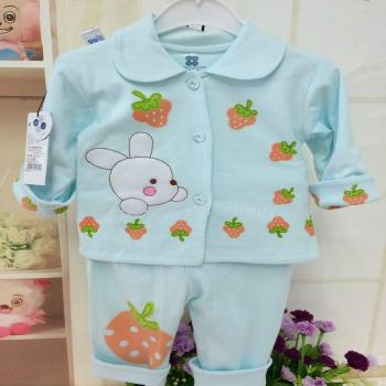 Cartoon strawberry baby rabbit two cotton coat autumn new clothes for 6 to 12 months