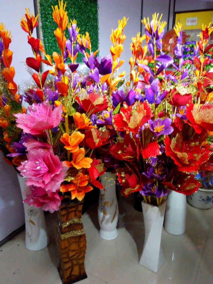大花瓶假花插花