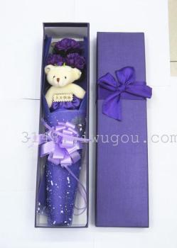 礼物皂花蝴蝶结礼盒创意七夕情人节视频小熊手工蛋鸡v礼物图片