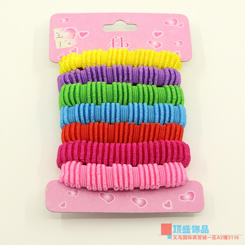 Korea Candy-colored children s durable bamboo hair tie elastic band rope  string hair accessories 290444b1fbe