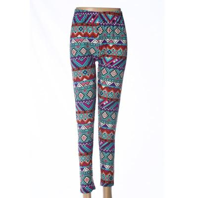 Milk fiber ninth leggings high-waisted polyester pants mothers' pants