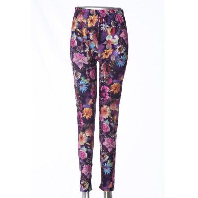 Milk fiber ninth leggings high-waisted polyester pants mothers' pants