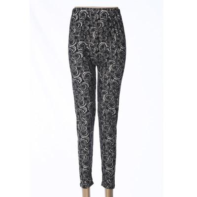 Ninth milk fiber leggings women's high-waisted polyester pants  mothers' pants