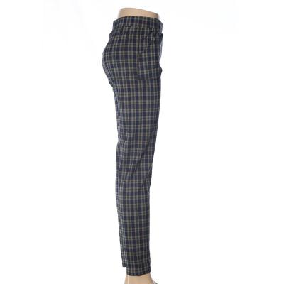 Ninth Polyester gridding leggings women's polyester high waist pants  mothers' pants