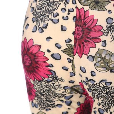 Milk fiber ninth leggings women's high-waisted polyester pants  mothers' pants