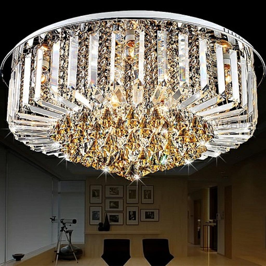 現代風格客廳燈圓形水晶燈led水晶吸頂燈