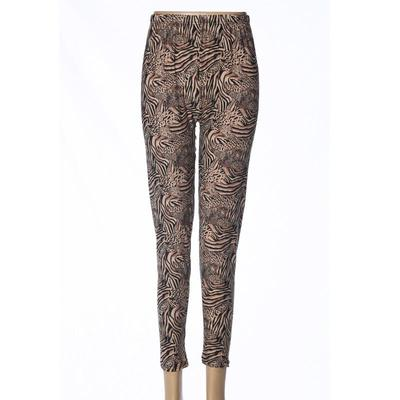 Milk fiber ninth leggings women's high-waisted  polyester pants  mothers' pants