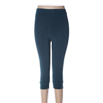 Cropped trousers polyester high-waisted leggings  mothers' pants