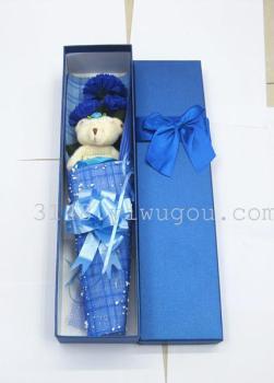礼物皂花蝴蝶结皇子创意七夕情人节视频小熊手工画原礼盒图片