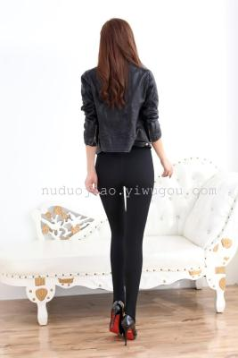 The new spring hook silk elastic thin waist anti wear gauze pants pants backing sexy pencil pants thin tide