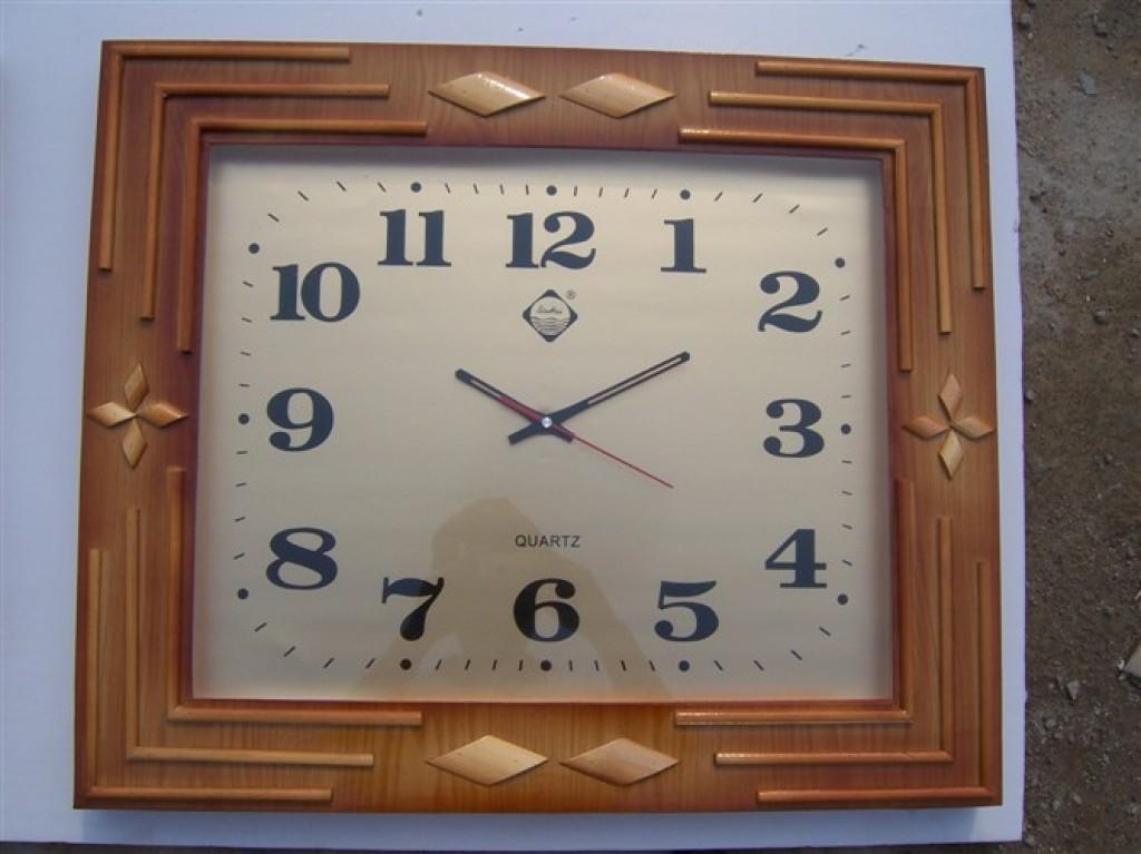 欧式四方实木挂钟客厅挂钟