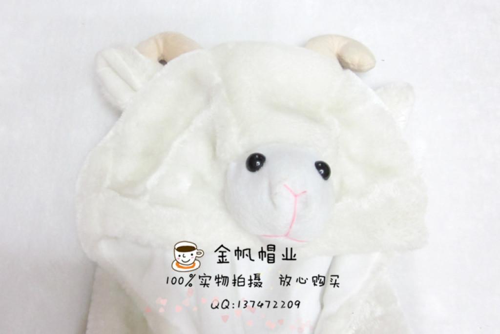 外贸出口绵羊儿童可爱马甲小孩卡通背心坎肩动物造型毛绒马夹