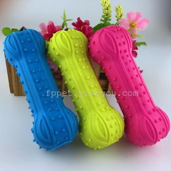 Toy dog pet toys bite of high-quality rubber pet chew toy whistle barbell toys