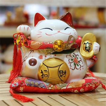 9寸元宝招财猫储钱罐家居开业婚庆摆件礼品