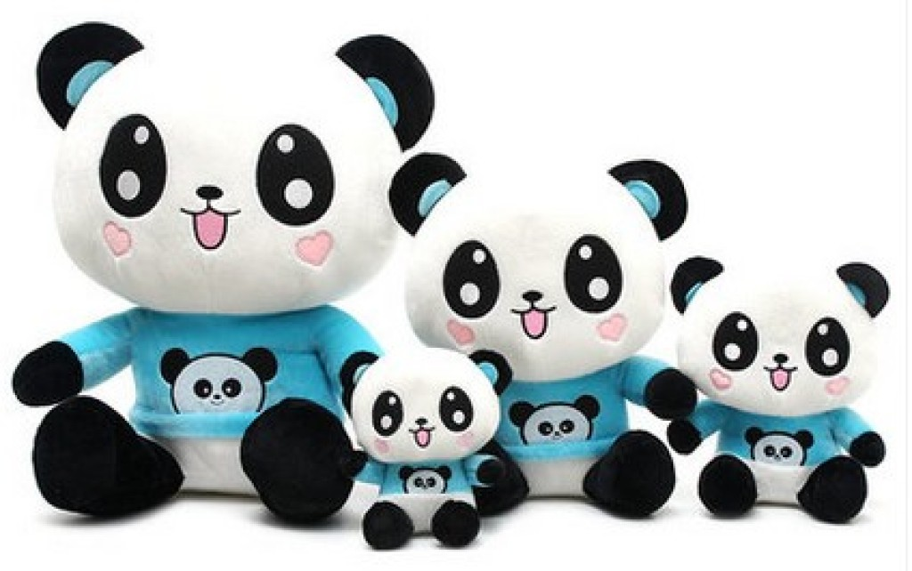 开心熊猫公仔可爱萌萌熊猫情侣礼品毛绒玩具布娃娃送