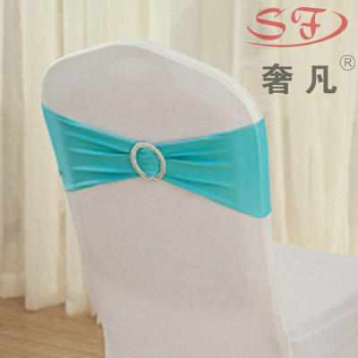 Free line type bowknot belt buckle elastic band set decoration wedding flower chair chair