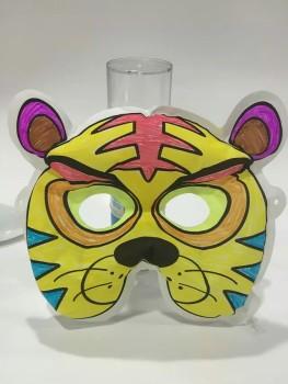 面具pvc面具 水彩画填色填色面罩