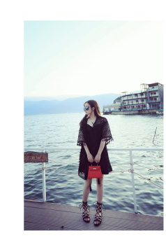 New summer holiday relaxed temperament lace hem major suit fringed shawl knitted cardigan pierced flowers