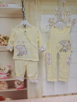 A baby clothes Spring Park coat suit three pieces of cotton