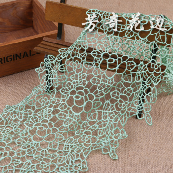 The high quality polyester water soluble lace lace embroidery clothing Home Furnishing decoration
