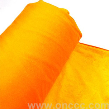 Warp knitted suede fabric has good thermal insulation, comfortable feel
