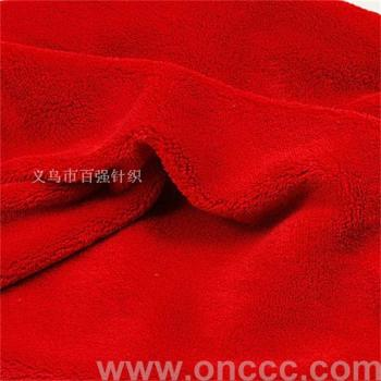 Double red coral cashmere, knitted fabric, flannel,