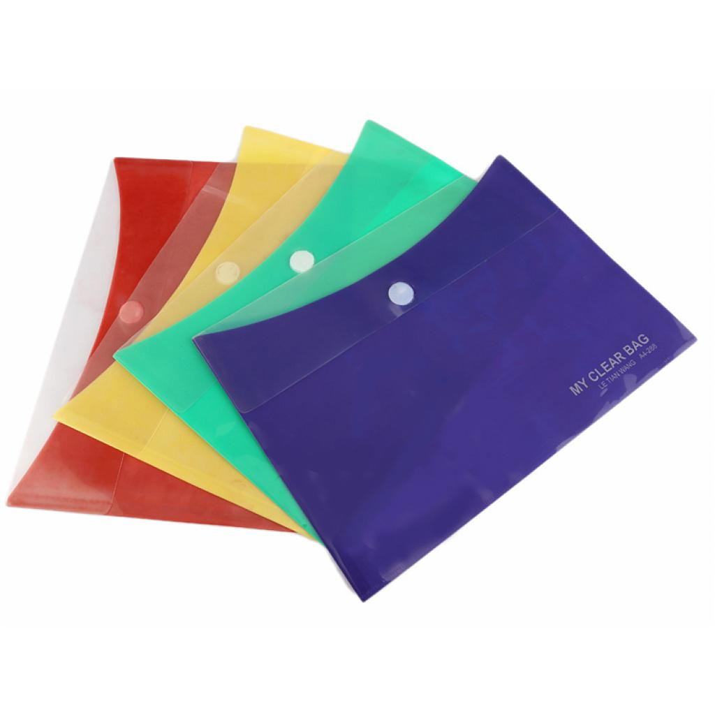 多色塑料按扣文件袋文件夹 可定做 可加logo