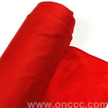 Warp knitted suede fabric stock